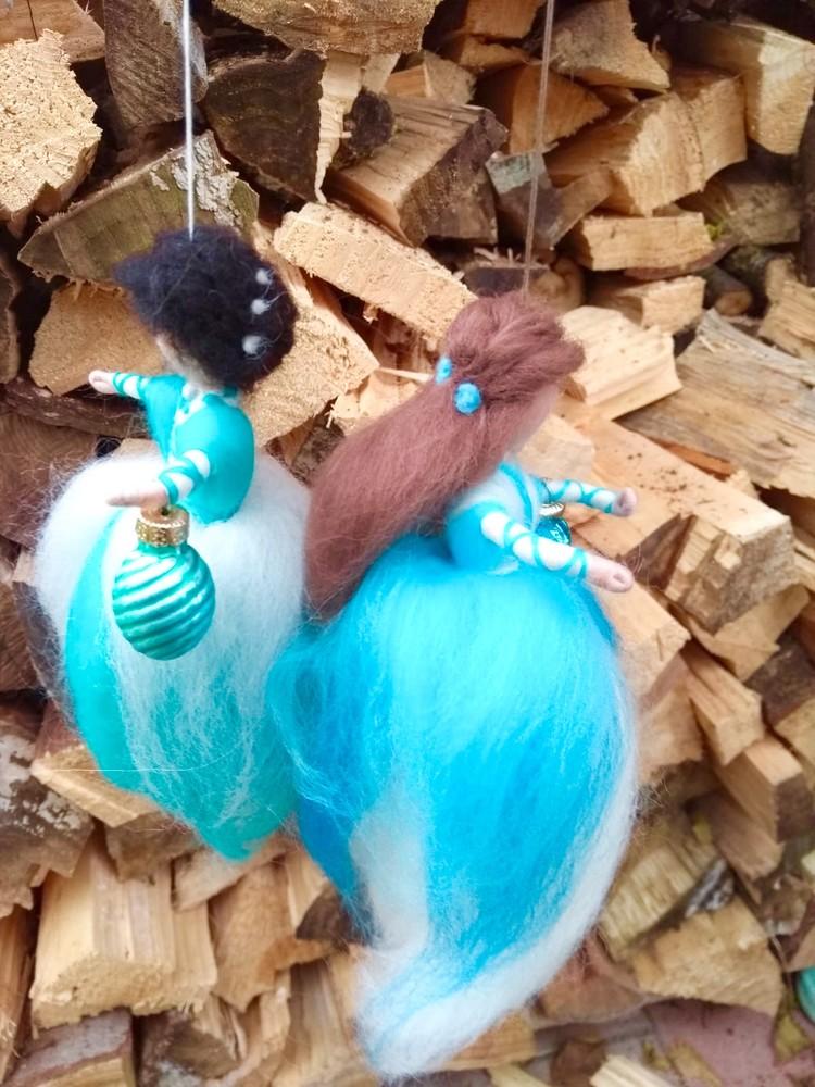 Türkisblau und karibischblau